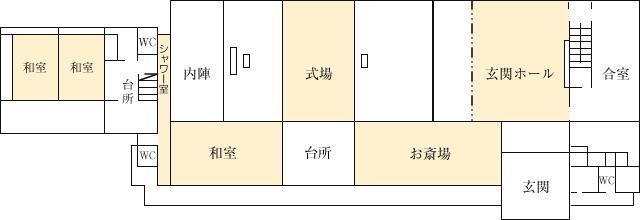 円徳寺会館見取り図