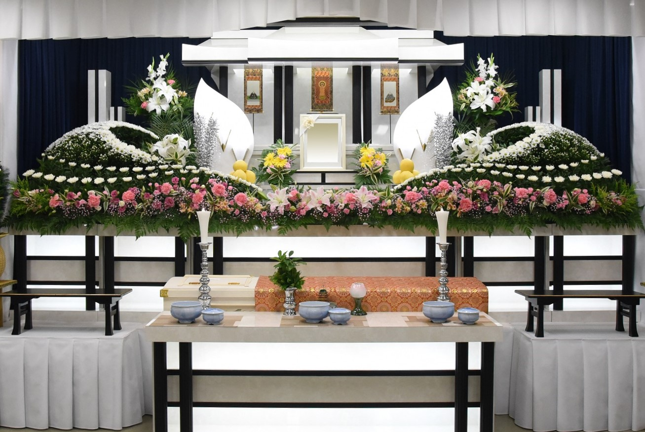 家族葬施行例-1 公益ホール